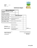 Parent Teacher Conference Type-In Form