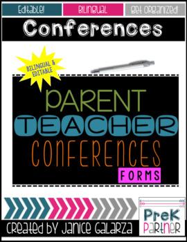Parent Teacher Conferences Packet {{BILINGUAL & EDITABLE}}