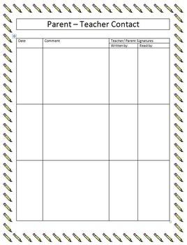 Parent Teacher Contact Form