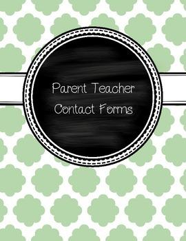 Parent Teacher Contact Forms
