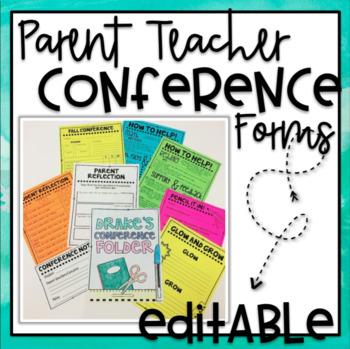 Parent Teacher Editable Conference Forms