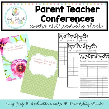 Parent Teacher Interviews Recording Sheets and Covers