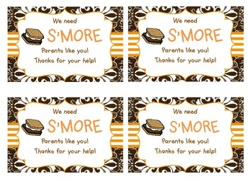 Parent Thank You - We Need S'more Parents Like You