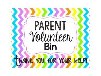 Parent Volunteer Bin Label