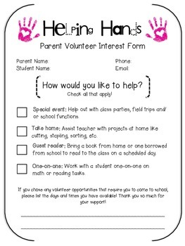 Parent Volunteer Form
