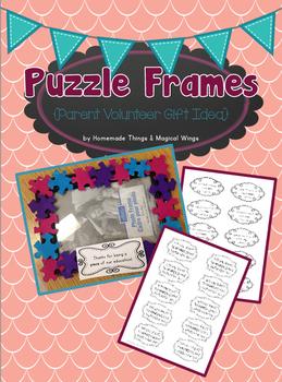 Puzzle Frames {Parent Volunteer Gift Idea}