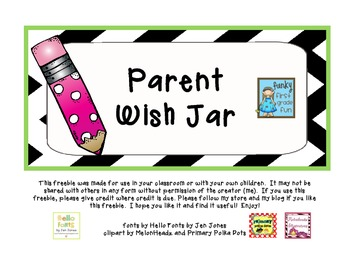 Parent Wish Jar