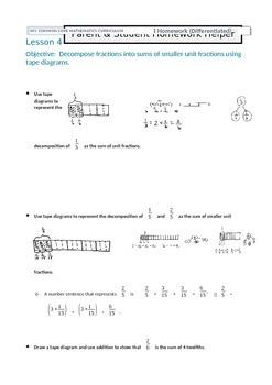 Parent and Student Homework Helper for Grade 4 Math Module 5