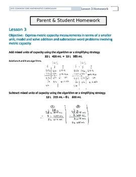 Parent and Student Homework Helpers for Grade 4 Math Module 2