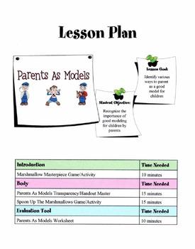 Parents As Models Lesson