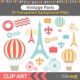 Paris Clipart, Vintage Parisienne Clip Art