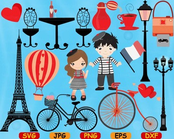 Paris Eifel Tower Love cut Clip Art svg school French vale