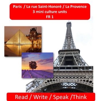 Paris / La rue Saint-Honoré / La Provence -3 mini thematic