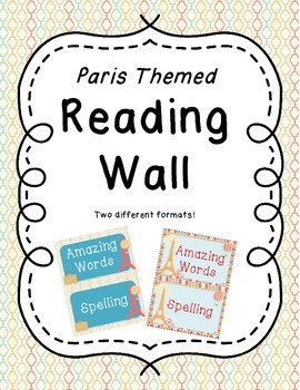 Paris Theme Reading Wall