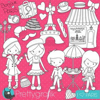 Paris travel stamps commercial use, vector graphics, image