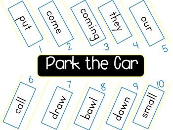 Park the Car Sight Word Practice