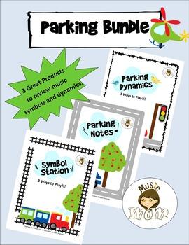 Parking Bundle: Notes, Dynamics and Music Symbols