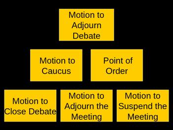Parliamentary Procedure Review Game