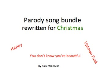 Parody songs bundle rewritten for Christmas