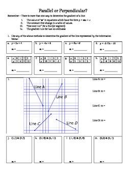 Parrallel & Perpendicular lines