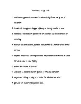 Code Talker vocabulary list and testPart 4