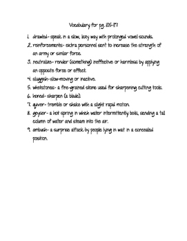 Code Talker Part 5 vocabulary list and test