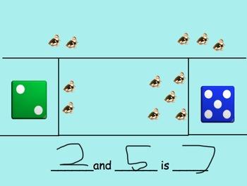 Part-Part-Whole Addition Math - Kinder - Smartboard - Envision