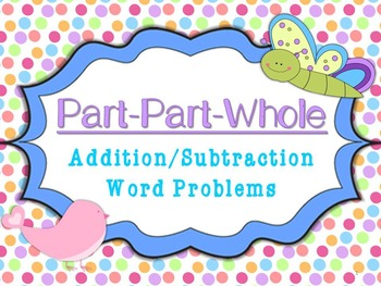 Part Part Whole Addition/Subtraction Word Problems Task Ca