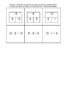 Part-Part Whole Subtraction Matching Game