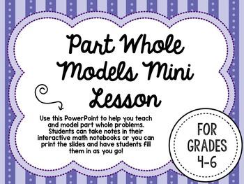 Part Whole Models Mini Lesson