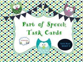 Part of Speech Task Cards