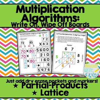 Partial Products & Lattice Multiplication: Wipe On/Wipe Of