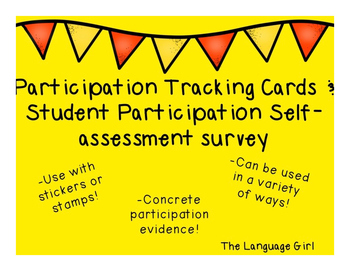 Participation Tracking Cards & Self Assessment Survey