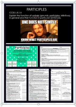Participles and Their Functions Complete Bundle - a Common