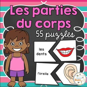 Parties du corps - 35 puzzles (casse-tête) - French Body Parts
