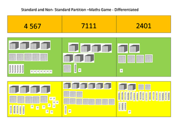 Place Value- Partitioning - Standard and Non-Standard - Ac