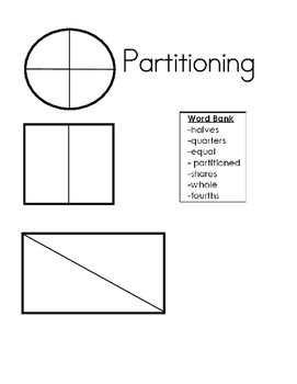 Partitioning halves and fourths:  an intro to fractions