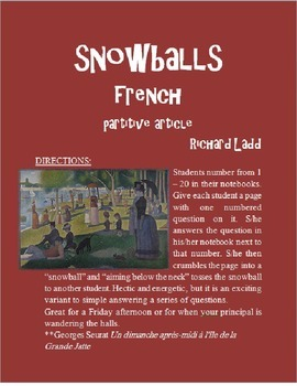 Partitive Article Snowballs FRENCH