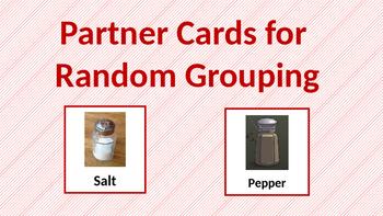 Partner Cards for Randomized Grouping