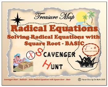Scavenger Hunt {School/Home/Stations} - Solve Square Root