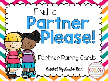 Partner Pair Cards for co-operative learning