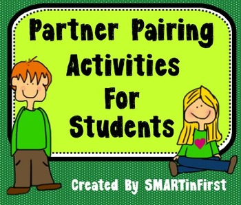 Partner Pairing Activities for Students