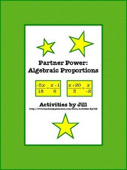 Partner Power: Algebraic Proportions