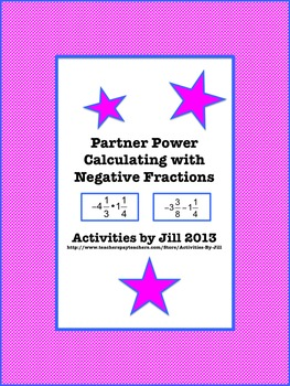 Partner Power: Calculating with Negative Fractions