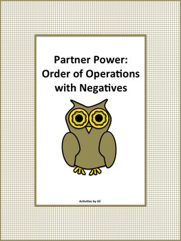 Partner Power: Order of Operations with Negatives