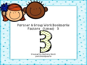 Partner and Group Work Bookmarks