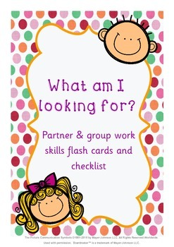 Partner, group & cooperative learning social skills flashc