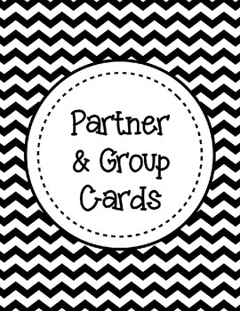 **FREEBIE** Partner or Group Cards