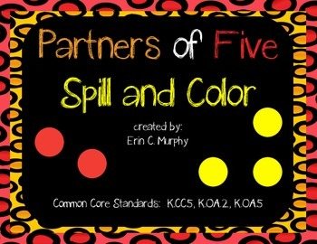 Partners of 5 Shake, Spill, & Color Game