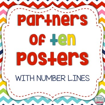 Partners of Ten (Make a Ten) Posters with Number Lines